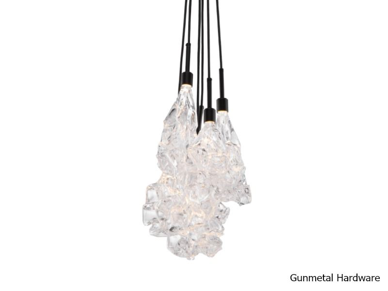 Picture of Blown Glass Pendant Chandelier | Blossom 6