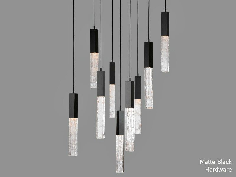 Picture of Axis Square Multi-Port Chandelier 9 pc
