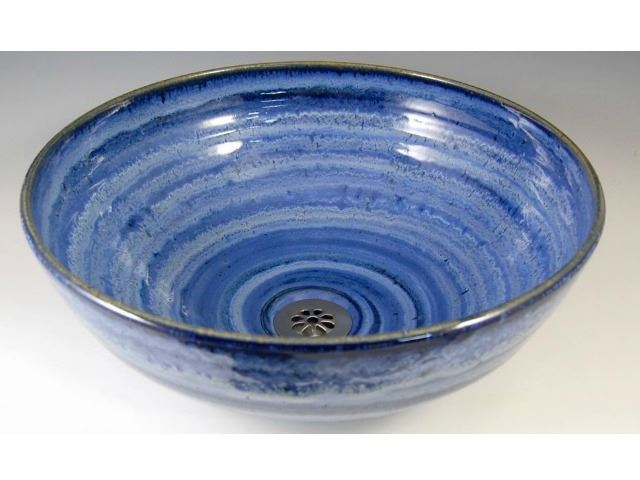 Picture of Delta Ceramic Vessel Sink in Sky Blue