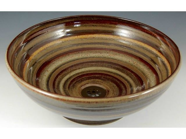 Picture of Delta Ceramic Vessel Sink in Old Boston Brown