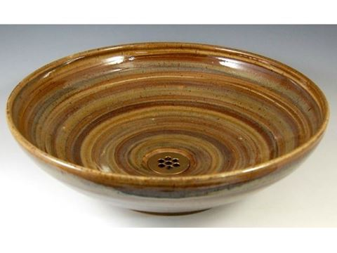 Delta Ceramic Vessel Sink in Spun Gold