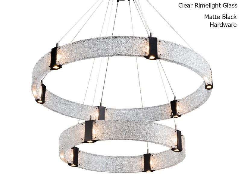 Picture of Parallel Collection Two Tier Ring Chandelier