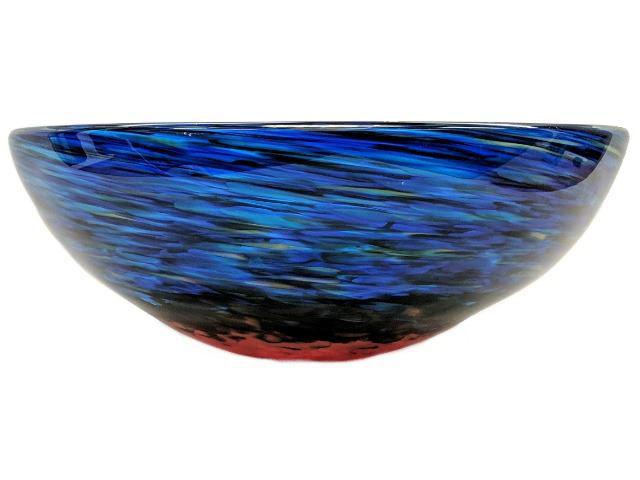 Blown Glass Sink   Blue Caliente