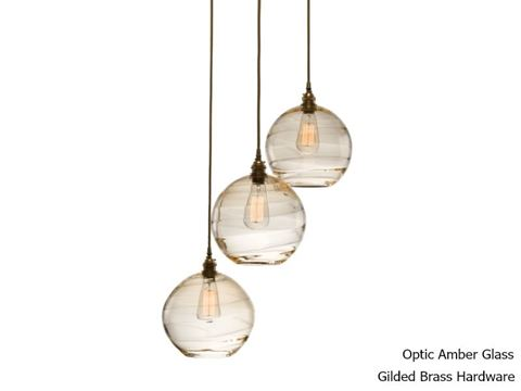 Terra Round Multi-Port Pendant Chandelier 3 pc