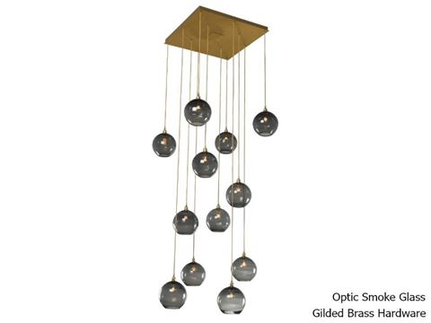 Terra Square Multi-Port Pendant Chandelier 12 pc