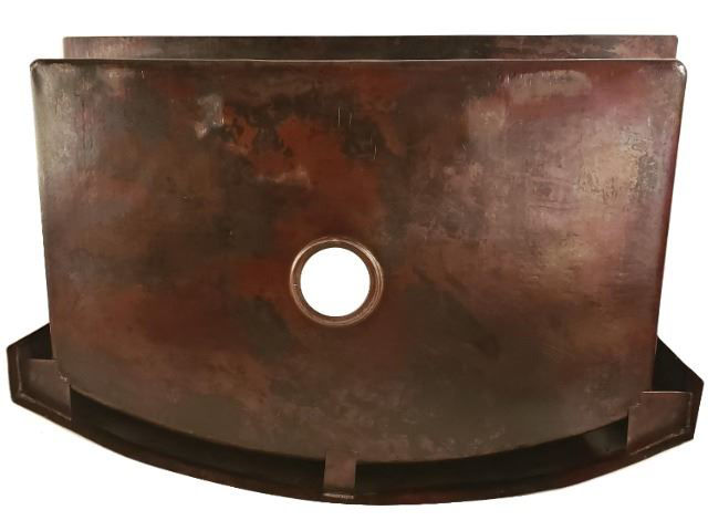 Rounded Front Copper Farmhouse Sink - Saguaro by SoLuna