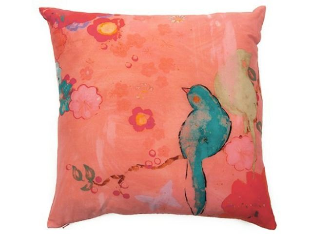 Picture of Kathe Fraga Decorative Pillow - Pink Silk