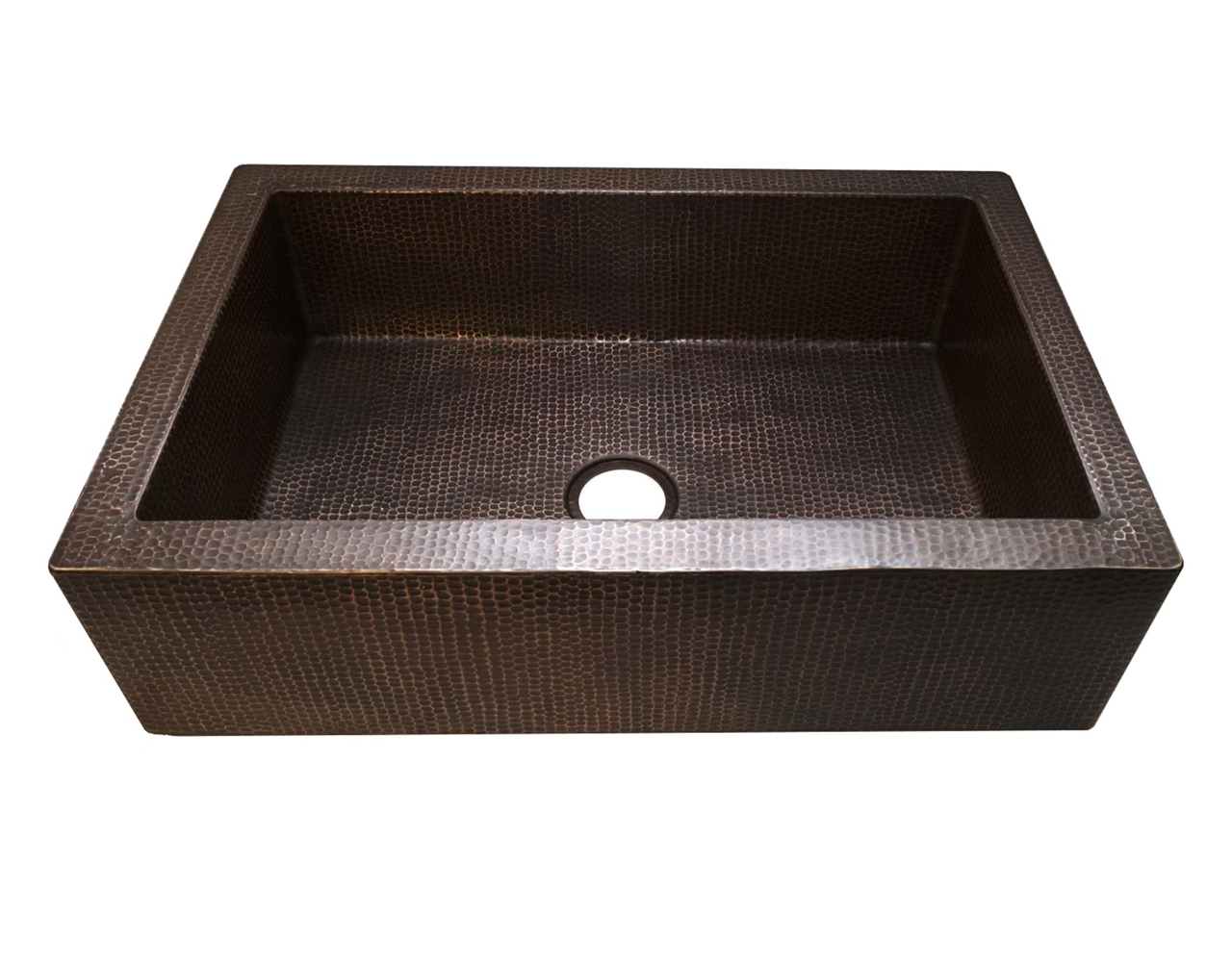 """Picture of 33"""" Single Well Copper Farmhouse Sink by SoLuna"""