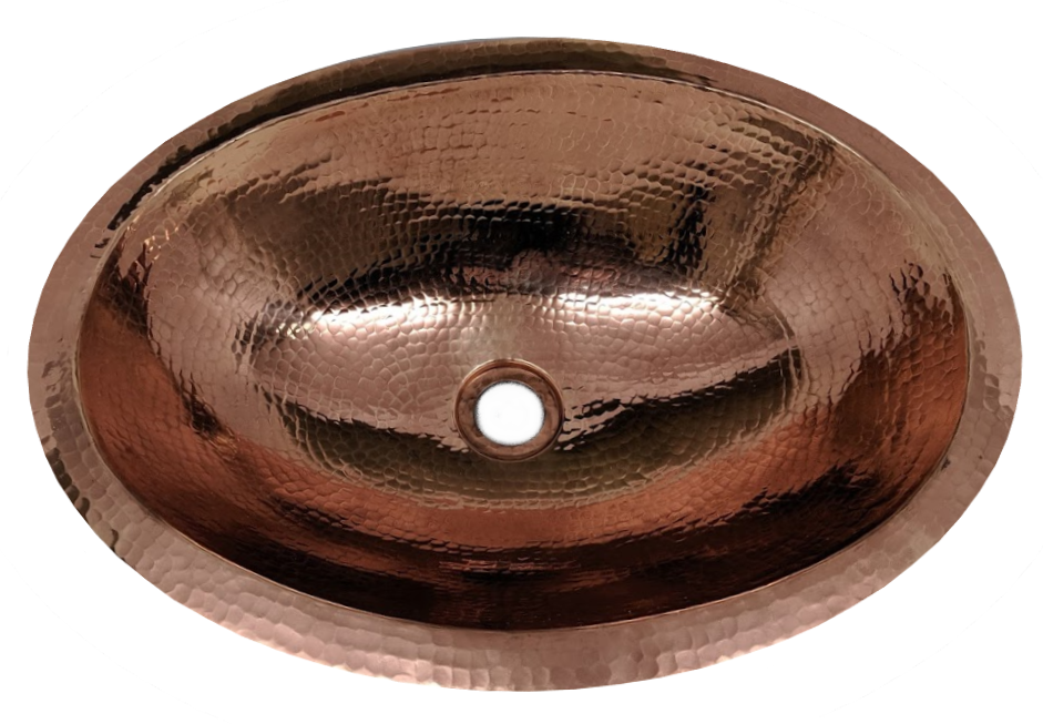 """Picture of 19"""" Oval Copper Bathroom Sink by SoLuna"""