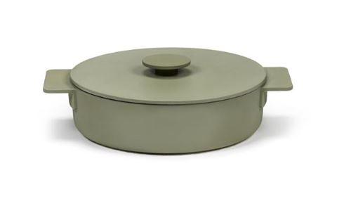Enameled Cast Iron Casserole Dish - Sage