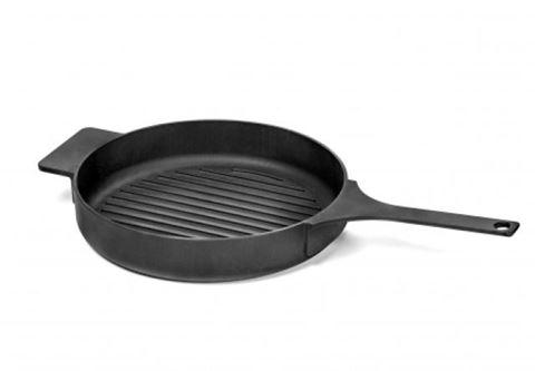 Enameled Cast Iron Grill Pan - Black