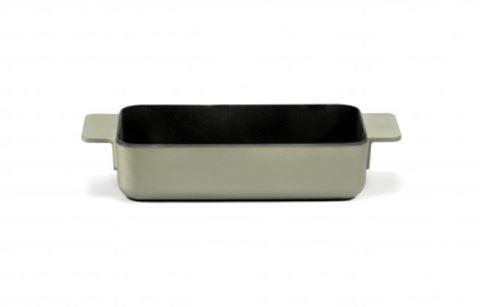 Enameled Cast Iron Oven Dish - Sage