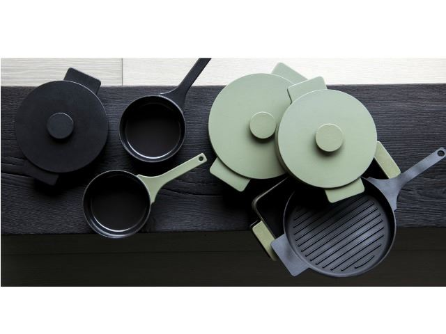 Picture of Enameled Cast Iron Grill Pan - Black