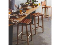 Picture of Padron Leather and Hardwood Barstool