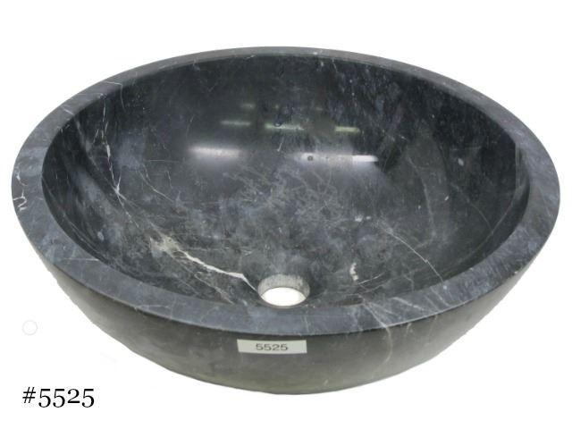 Picture of SoLuna Black Marble Bath w/ Flat Rim Sink - Sale