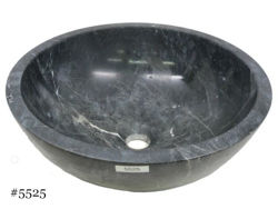 Picture of SoLuna Black Marble Bath w/ Flat Rim Sink - Sale