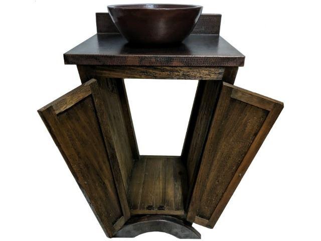Picture of El Triángulo Wood and Copper Vanity