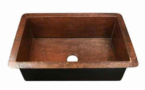 Single Well Copper Kitchen Sink by SoLuna
