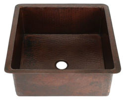 "15"" Square Copper Bar Sink by SoLuna"