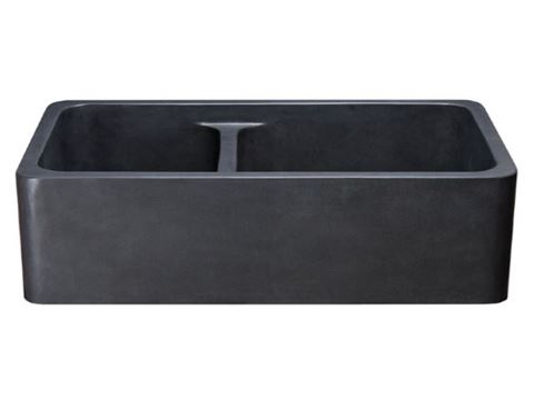 60/40 Black Lava Double Well Farmhouse Sink