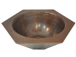 Picture of Hexagonal Copper Vessel Sink by SoLuna