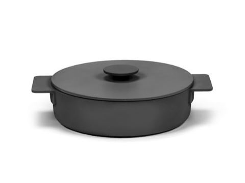 Enameled Cast Iron Casserole Dish - Black