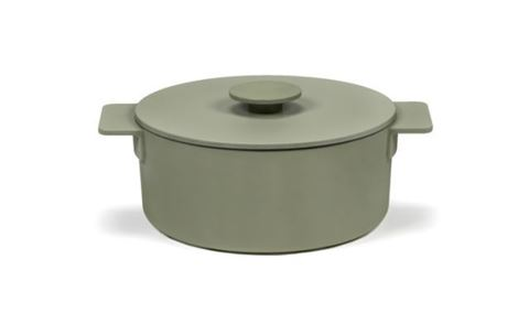 Enameled Cast Iron Pot - Sage