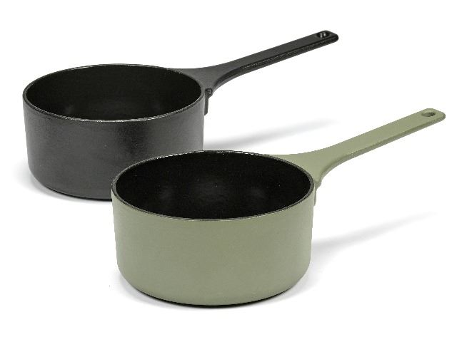 Picture of Enameled Cast Iron Saucepan - Sage