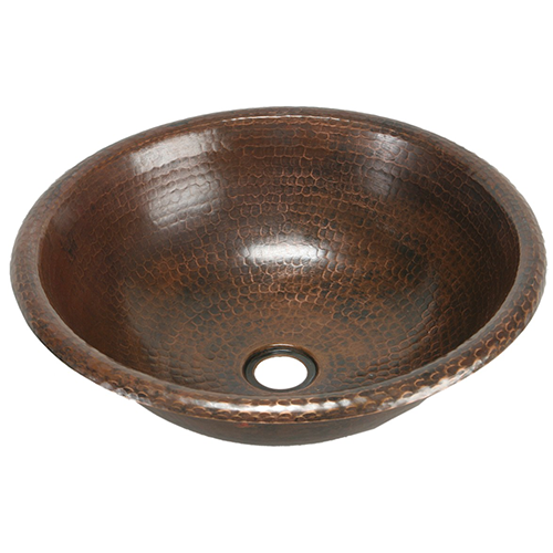"""Picture of 15"""" Round Copper Bathroom Sink by SoLuna"""