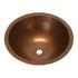 "17"" Round Copper Bathroom Sink by SoLuna"