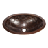 """Picture of 19"""" Oval Copper Bathroom Sink - Joining Rings by SoLuna"""