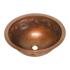 "17"" Round Copper Bathroom Sink - Floral by SoLuna"