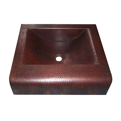 "Picture of 20"" Bandeja Copper Bathroom Sink by SoLuna"