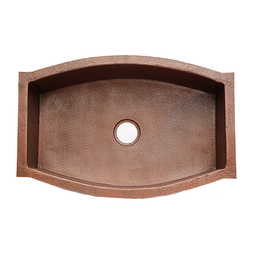 """Picture of 33"""" Squared Oval Copper Kitchen Sink by SoLuna"""