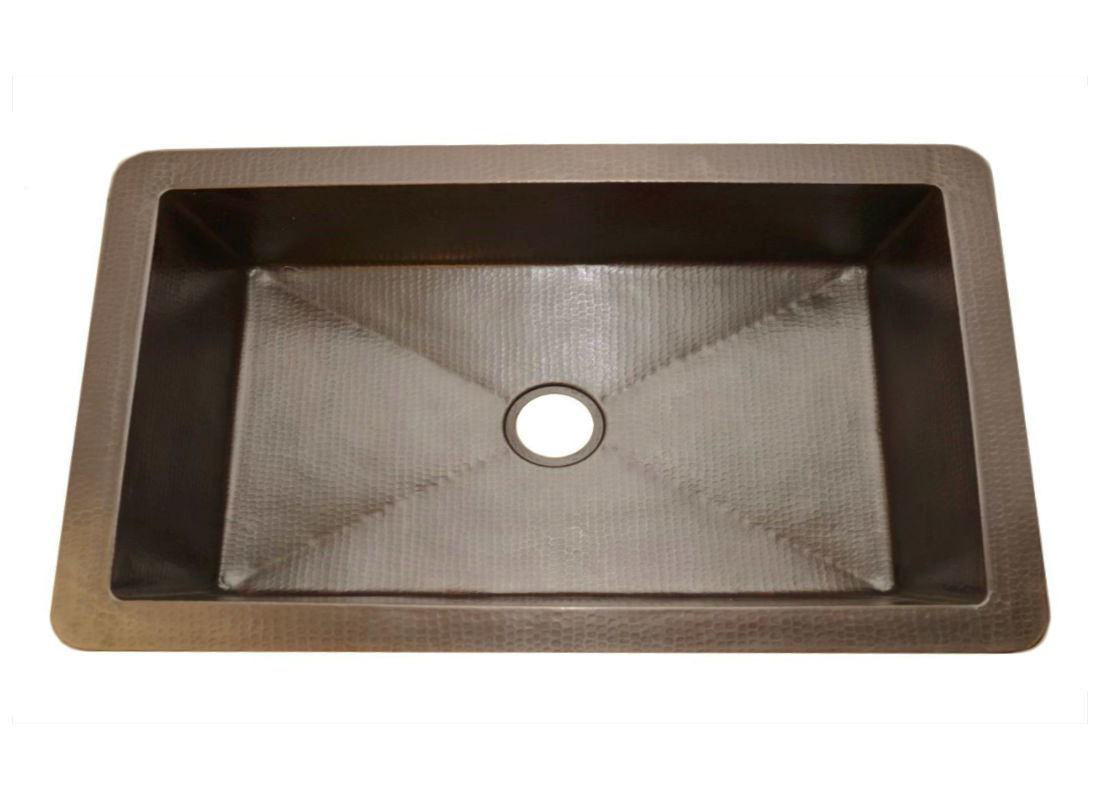 "Picture of 42"" Fernanda Copper Farmhouse Sink by SoLuna"