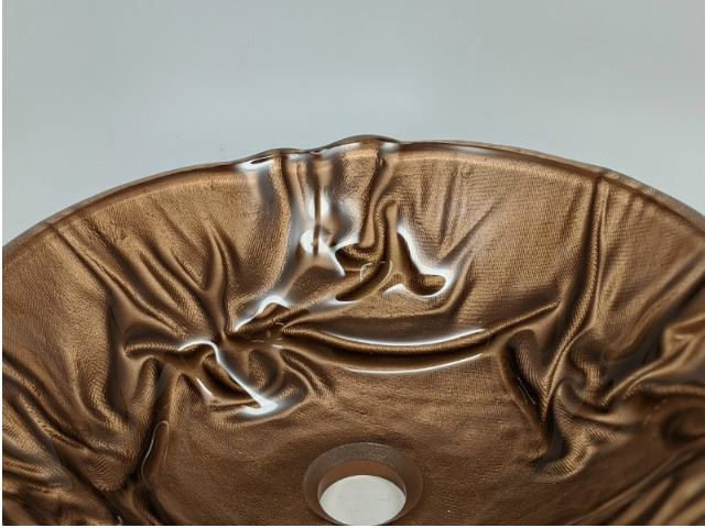 Picture of Copper Linen Textured Glass Vessel Sink