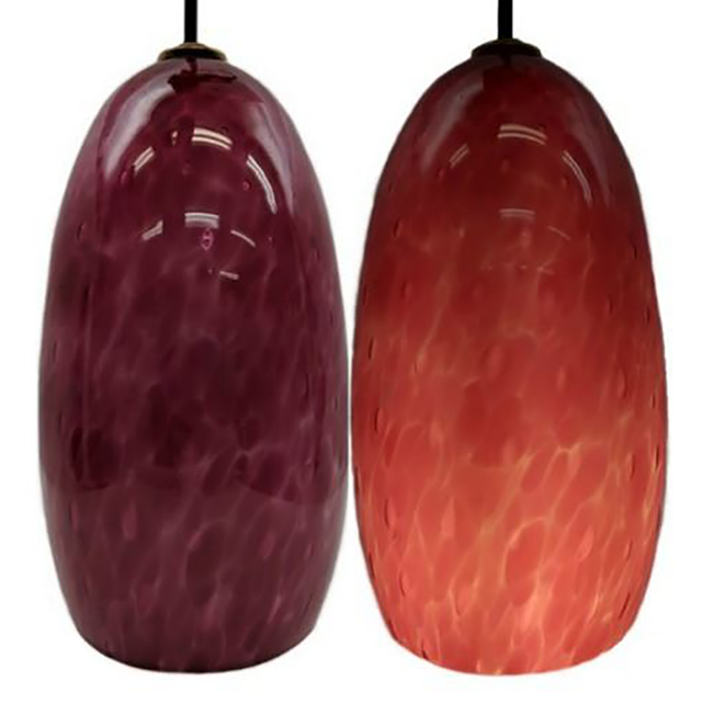 Picture of Blown Glass Pendant Light | Magenta