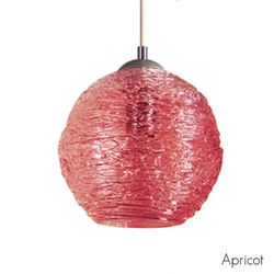 Picture of Spun Glass Pendant Light | Apricot II