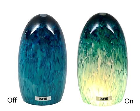 Blown Glass Pendant Light |  Ocean Waves