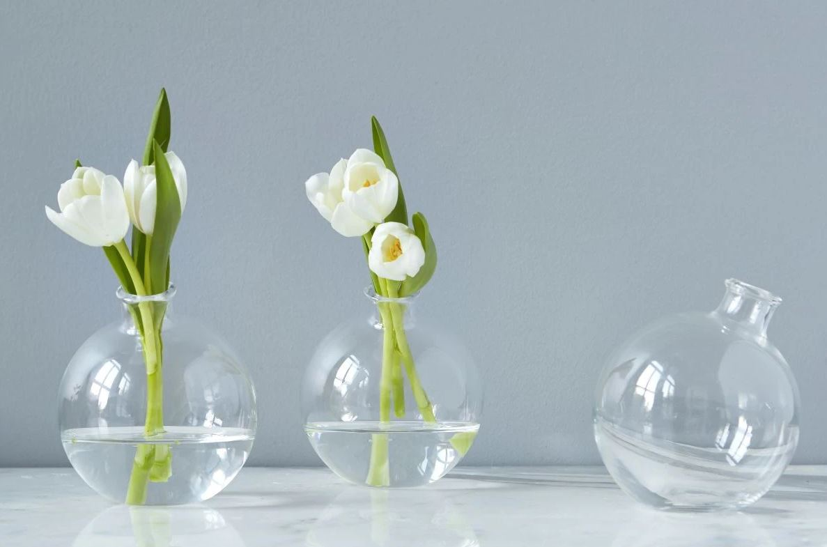 "Picture of Clear 5"" Sphere Vase"