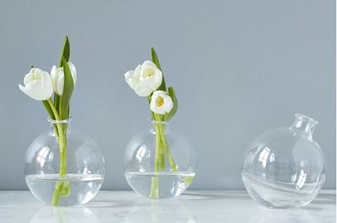 "Clear 5"" Sphere Vase"