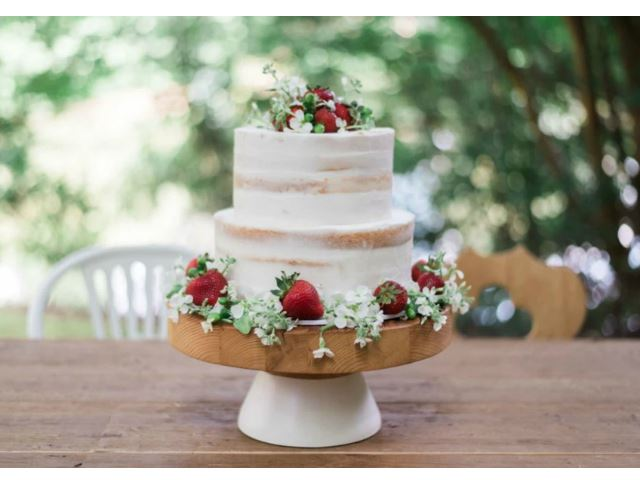 Picture of White Mod Block Cake Stand, Large