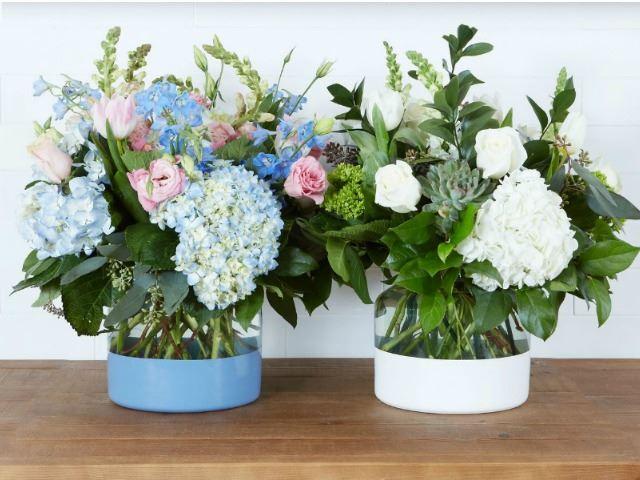 Picture of Denim Colorblock Flower Vase