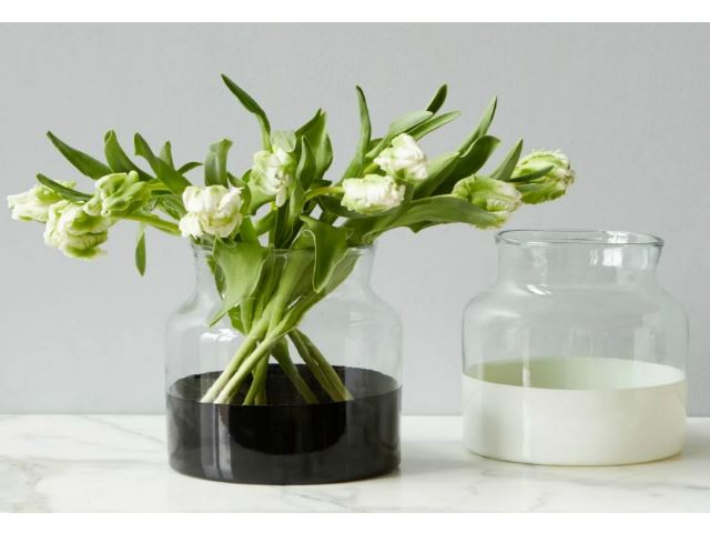 Picture of White Colorblock Flower Vase