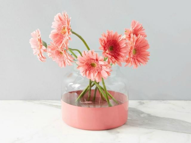 Picture of Pink Colorblock Flower Vase