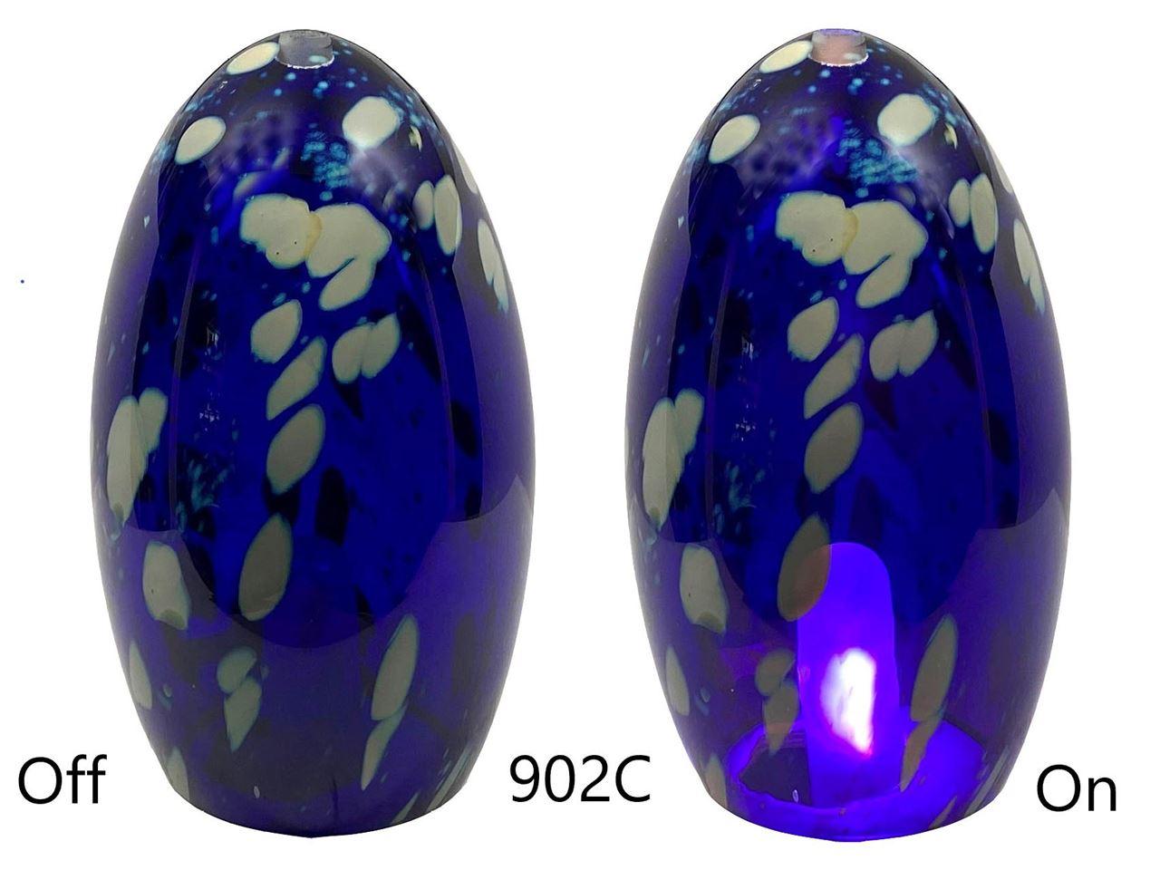 Picture of Blown Glass Pendant Light | Translucent Blue Dot