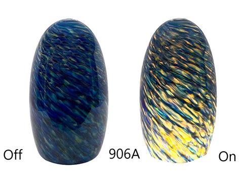 Blown Glass Pendant Light - Blue Sunshine