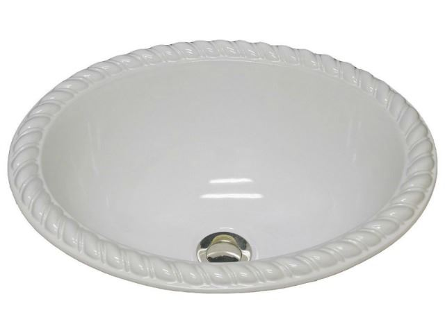 Picture of Marzi Oval Self-Rimming Basin with Rope Rim