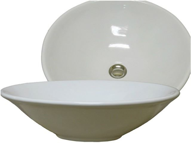 "Picture of Marzi 19"" Round Ceramic Vessel Sink"