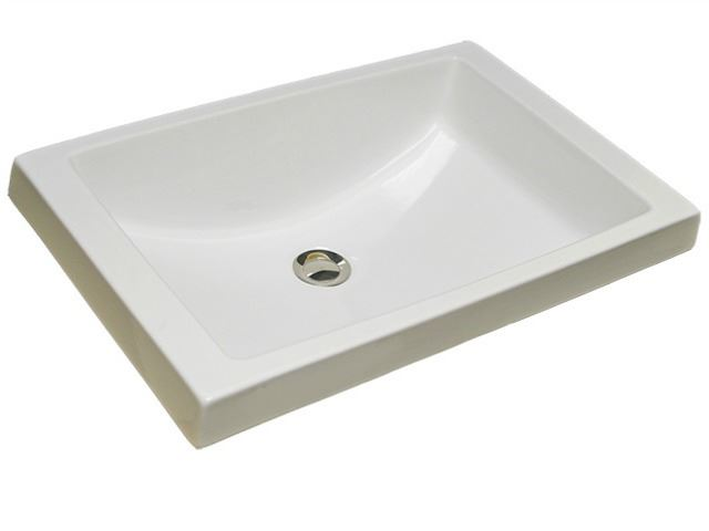 Picture of Marzi Self-Rimming Rectangular Sink with Flat Rim